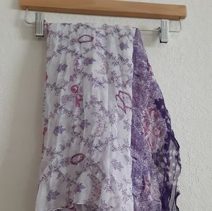 Cato Purple and Pink Floral Scarf